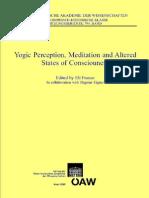 Eli Franco (Ed)-Yogic Perception, Meditation and Altered States of Consciouness