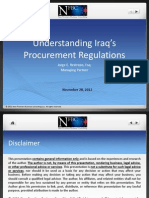 4 Jorge Iraq Procurement Laws Presentation 2012-11-27