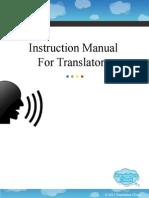 Translator Instruction Manual
