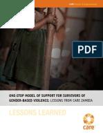 ONE-STOP MODEL OF SUPPORT FOR SURVIVORS OF GENDER-BASED VIOLENCE
