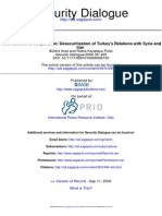From Conflict to Cooperation Desecuritization of Turkey's Relations With Syria And
