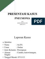 Presentasi Kasus Pneumonia Anak