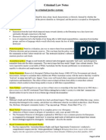 Criminal Law Exam Notes 2012