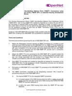 Service Tarriff for HDB NBAP v3005131