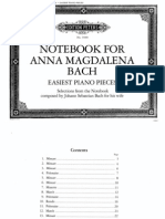 Bach Notebook for Anna Magdalena (Partitura Piano)