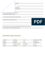 Chemistry Quizzes for Grade 6, 7 and 8