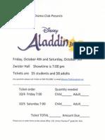St. Sebastian Drama Club presents Aladdin Jr.