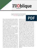 La rassegna stampa di Oblique di settembre