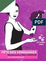 La Fête des Vendanges de Montmartre 2013 - dossier de presse