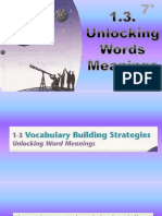 1.3 Unlocking Word Meanings, Prefexis