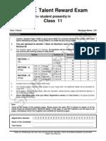Class - Xi, Paper- II
