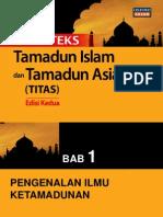 TITAS Bab 1 Pengenalan Ilmu Ketamadunan