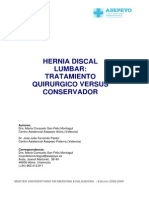Hernia Discal Lumbar Tratamiento Quirurgico y Conservador