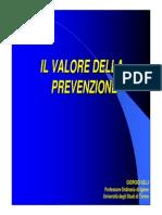 Il Valore Della Prevenzione