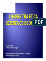 L'igiene tra Etica Scienza ed Economia