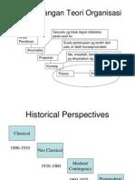 Perkembangan Teori Organisasi Dan Manajemen
