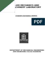 Fluid Mechanics and Machinery Laboratory