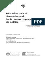 Educacion y Dllo Rural Fao 2004