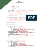 Aula 12 - Crimes Contra a Honra - 2012.2