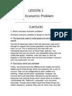 LESSON 1 - The Economic Problem