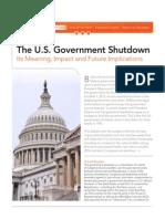 The U.S. Government Shutdown