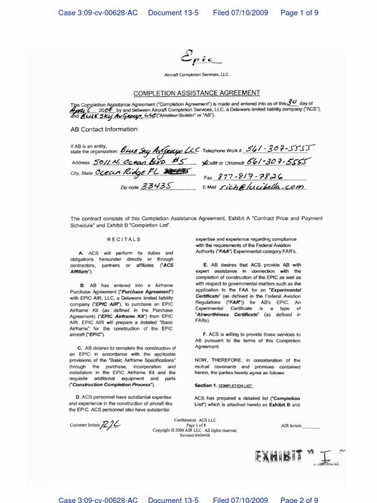 Epic Exhibit I Law Of Agency Arbitral Tribunal