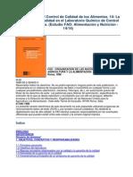 14-14 La garantía de calidad en el laboratorio de control de los alimentos