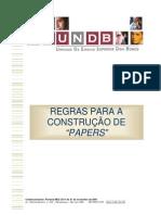 Regras Para Construcao de Papers Atualizado