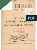 Tm 9-897 22-Ton Low-bed Trailer La Crosse Df6-22