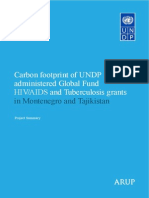 Carbon footprint of UNDP Global Fund health initiatives in Montenegro and Tajikistan