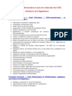 Formations Doctorales CED SI