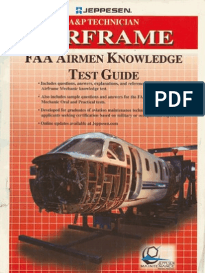 A&P Technician Airframe Faa Airmen Knowledge Test Guide | Flight