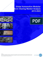 Global Automotive Modular Platform Sharing Market Analysis 2013-2023