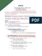 3CsETC Minutes 2009.05.11