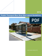 Public Transport Bus Stop Site Layout Guidelines