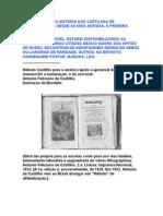 UMA VIAGEM PELA HISTÓRIA DAS CARTILHAS DE ALFABETIZAÇÃO