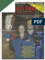 Dixieland Farm Article Country Folks - April 2006