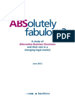 ABSolutely Fabulous - A Study of Alternative Business Structures and Their Role in a Changing Legal Market