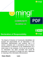 Mingl Community - presentation & business plan