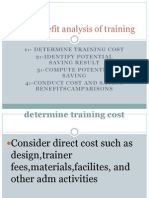 Cost Benefit Analysis of Training