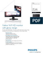 Philip 19 Inch LCD Widescreen Monitor
