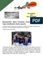 Brasileirão líder Cruzeiro vence mais uma; veja resultados desta quarta