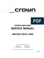 Crown Ma2400 Service Manual