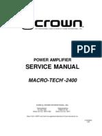 Crown Ma2400 Service Manual