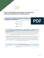 Perfil Competencia Mantenedor Electronico de Maquinas Herramientas Convencionales