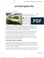 Trains are Best Place for Ads (Newsbreak Online), 08 July 2009