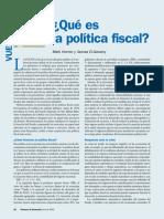 ¿qué es la política fiscal