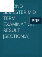 LL.B 2nd Semester Mid Term Examination Result [Section:A]