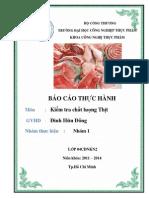 báo cáo thực hành KTCL thịt