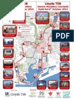 2013 Lloyds TSB Cardiff Half Marathon Route Map